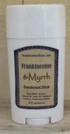 Frankincense & Myrrh Deodorant Stick: Essential Oil Fragrance Oil Blend